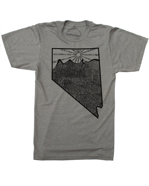 Nevada Home Shirt | Original Sun Mountain Desert Illustration | Hand Printed on Soft 50/50 Threads | Elevate the Day!