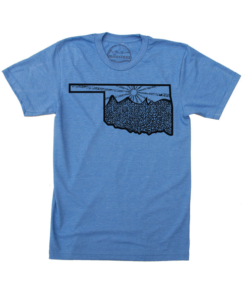 Oklahoma Home Shirt | Nature Illustration | Hand Screen Printed on Soft Threads | Elevate the Day!