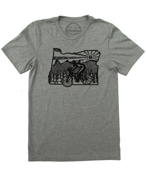 Oregon Shirt- Bike Portland in Soft Apparel Great for Daily Rides