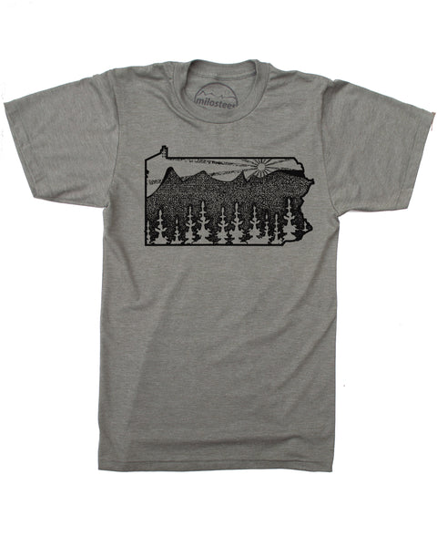 Milostees | Pennsylvania Home Shirt | Graphic Nature Print on Soft 50/50 Tee's