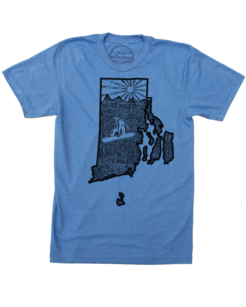 Rhode Island Shirt | Original Snowboard Graphic | Hand Print on Soft Wears | Elevate the Day!