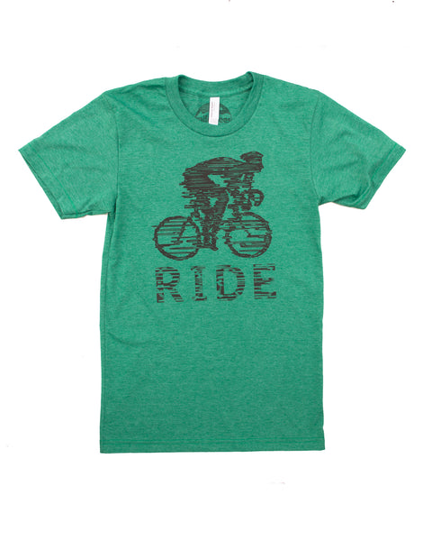 Bicyclist T-shirt | Ride Like the Wind | Screen Print on Soft 50/50 Tee's | Elevate the Day!