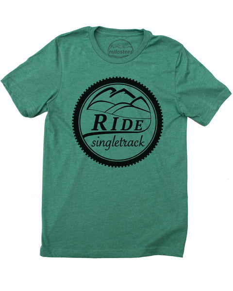 Mountain Bike Shirt, Ride Singletrack Graphic Screen Printed on Soft Threads - Elevate the day!