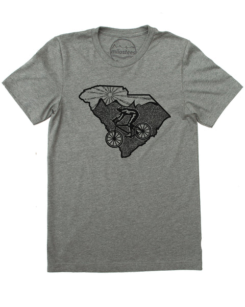 Milostees | South Carolina Shirt with Mountain Bike Style | Soft 50/50 Tee's | Elevate the day!