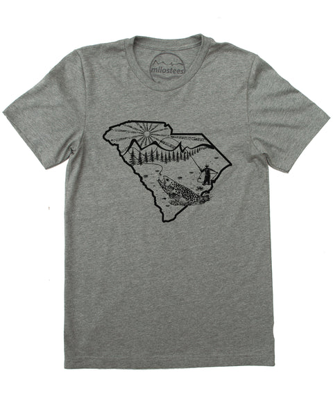 South Carolina Shirt | Fly Fishing Style | Hand Screen Print on Soft 50/50 Tee's