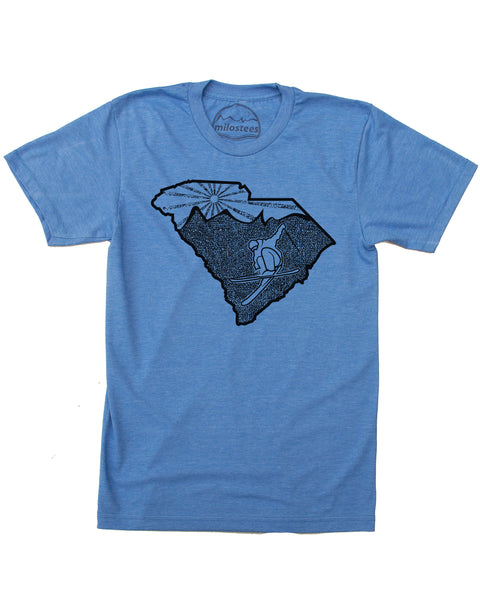 South Carolina Home T-shirt | Funny Skiing Graphic on Soft 50/50 Tees | Ski Charleston When the Ice Age Returns!