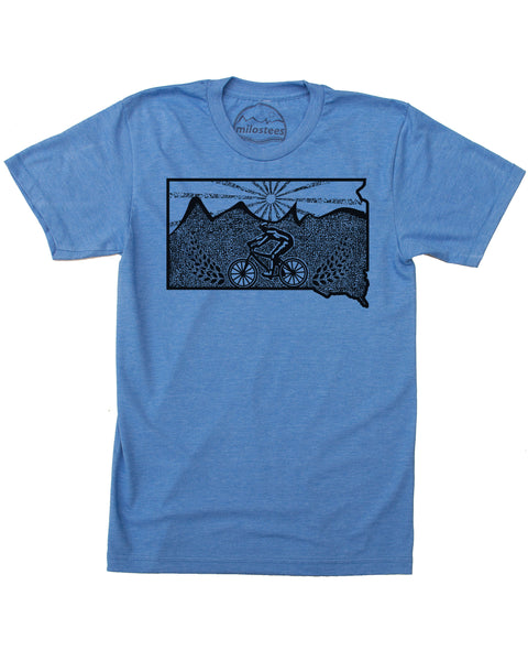 South Dakota Shirt | MTB Illustration | Hand Screen on Soft 50/50 Threads | Elevate the Day!