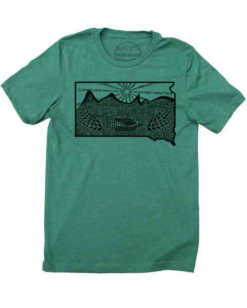 South Dakota Shirt | Original Nature Graphic | Hand Screen Print on Soft 50/50 Tee's | Elevate the Day!