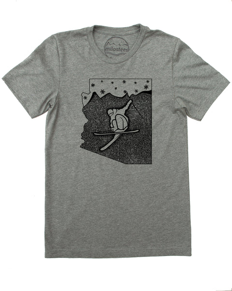 Arizona T-shirt, Ski Arizona in Soft 50/50 Threads Sure to be a Favorite- Elevate the day!