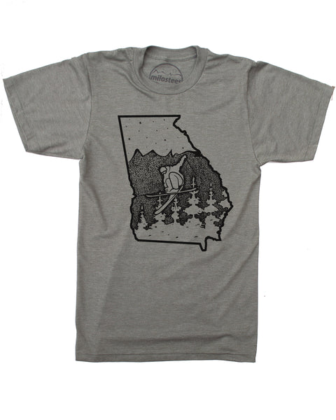 Georgia Shirt, Ski the Peach State in Soft 50/50 Apparel and Elevate the day Milostees way