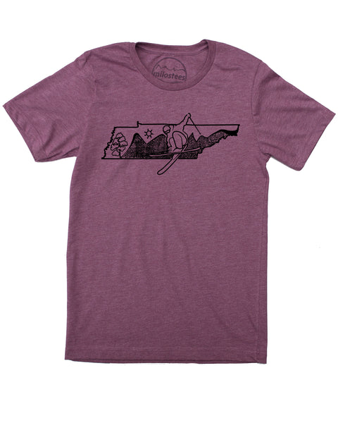 Tennessee T-shirt, Ski the Blue Ridge Mountains in a Soft 50/50 Tee