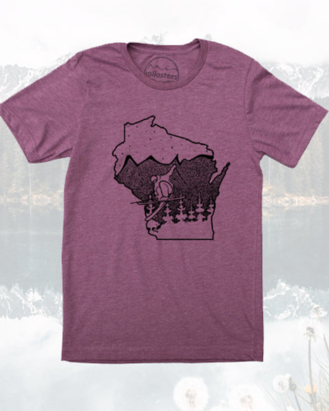 Wisconsin Shirt, Ski the Badger state in Soft 50/50 Tee's- Elevate the day!
