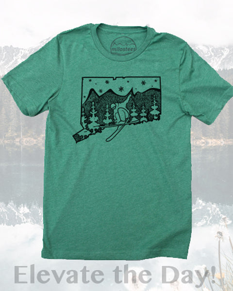 Connecticut Home Shirt- Ski Mohawk Mountain in Soft 50/50 Apparel and Elevate the Day, Milostees Way!