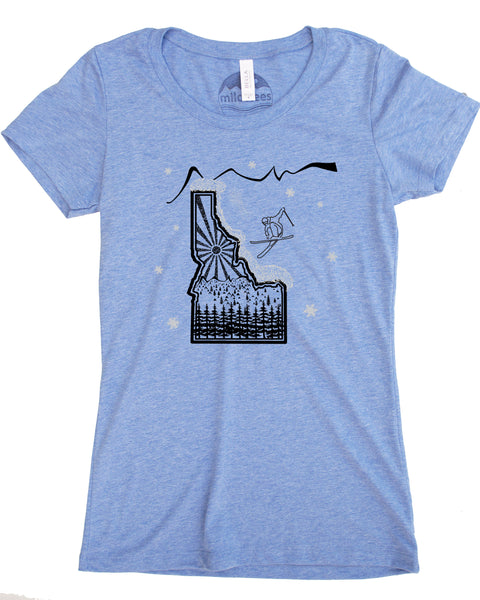 Ski Idaho T-shirt- Powdery blend of fabrics great for adventurous days or casual wear-