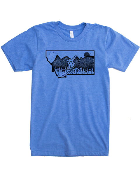 Ski Montana T-shirt, Skiing Graphic on Powdery Soft Apparel for Outdoor Adventures and Casual day's! $21.99 free Shipping-