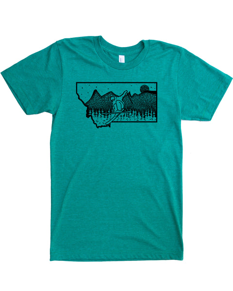 Ski Montana T-shirt, Wholesale
