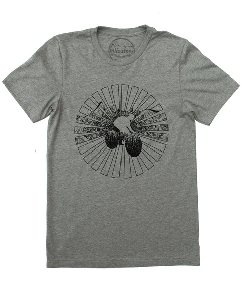 Sun Cycle Shirt- Cycling Image Screen Printed on Soft 50/50 Tee's for a Bike Enthusiast!