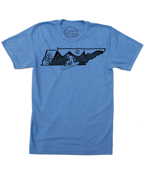 Tennessee Home Shirt | Snowboarding Print on Soft Wears | Ride Gatlinburg Elevate the Day!