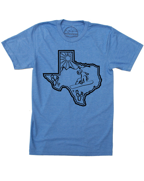 Texas Home Shirt | Snowboarding Graphic on Soft 50/50 Apparel | Elevate the Day!