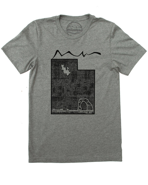 Utah Home Shirt | Wilderness Graphic Delicate Arch | Hand Screen Print on Soft Threads | Elevate the Day!