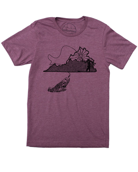Virginia Home Shirt | Original Fly Fishing Graphic | Hand Screen Print on Soft Threads | Elevate the Day!