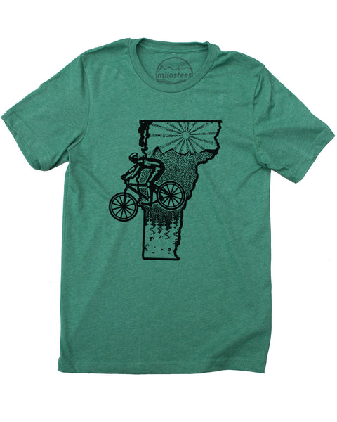 Vermont Shirt with Mountain Bike Style - Print on Soft 50/50 Tee's