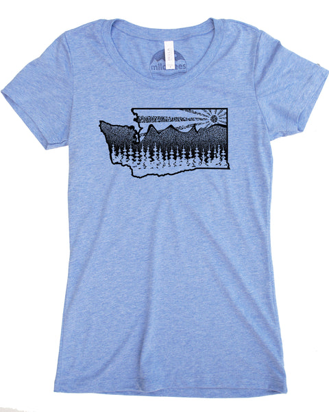 Washington State Mountain Tree T-shirt