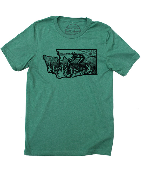 Washington Shirt- Mountain Bike Washington Graphic on Soft 50/50 T-shirt's