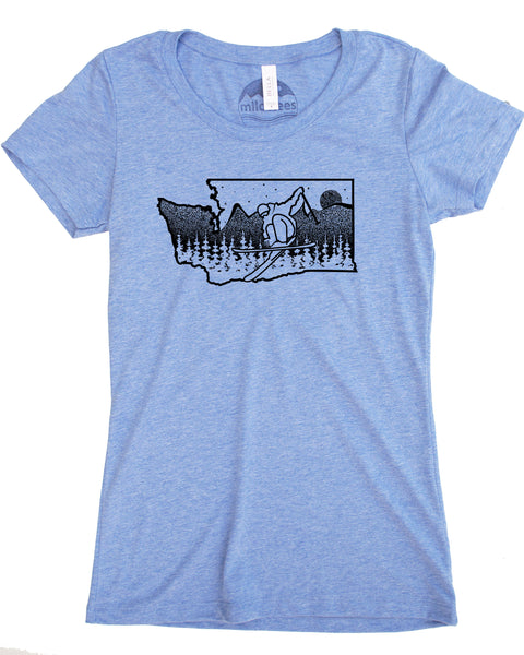 Washington State Ski Shirt in a Powdery Blend of Fabric for a Soft Floaty Feel that Leaves you Wanting More!