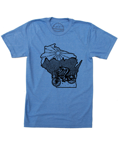 Wisconsin Home Shirt- Mountain Bike Style- Elevate the Day in Soft 50/50 Apparel.