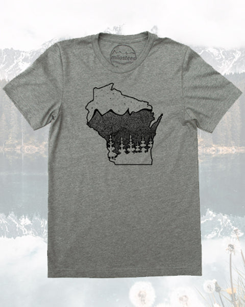 Wisconsin T-shirt, Nature Design for the Home you Love- Screen Printed by Hand on Soft 50/50 Tee's