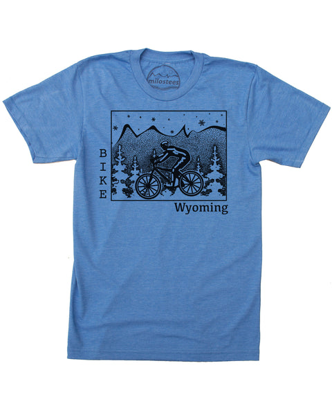 Wyoming Home Shirt | Mountain Bike Graphic | Hand Screen Print on Soft 50/50 Tee's | Elevate the Day!