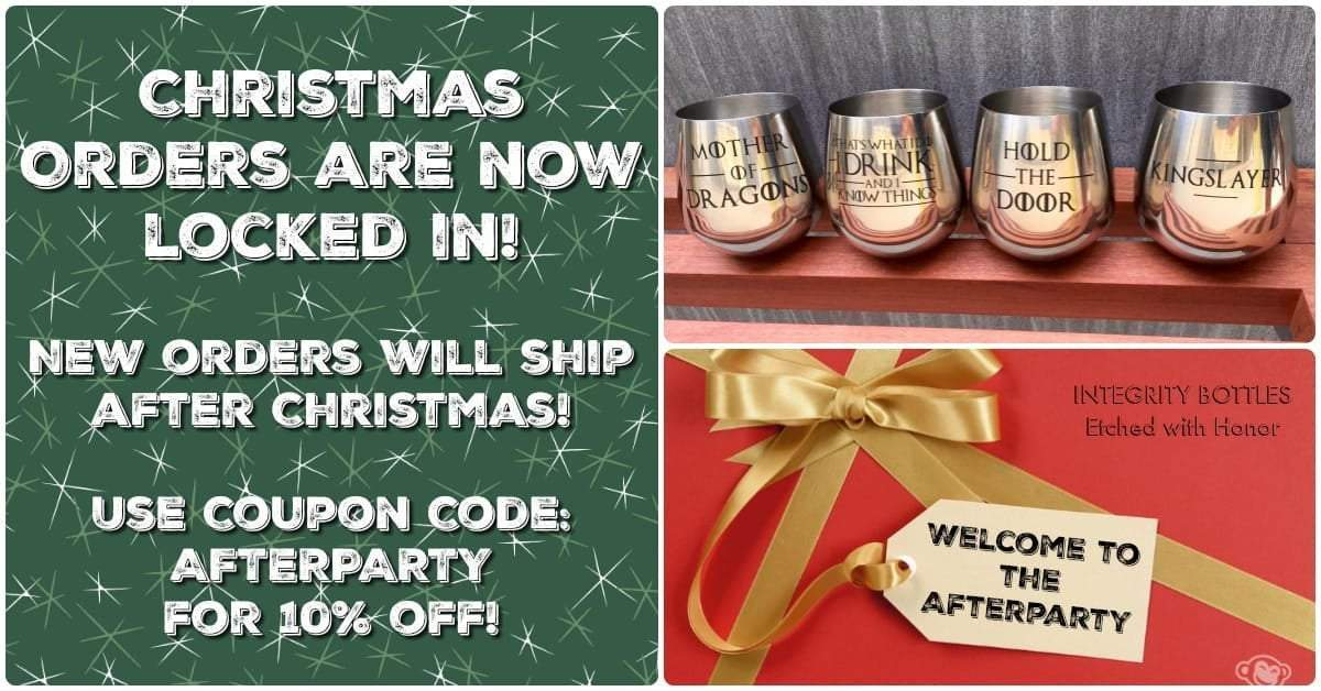 Christmas Orders are Now Closed!