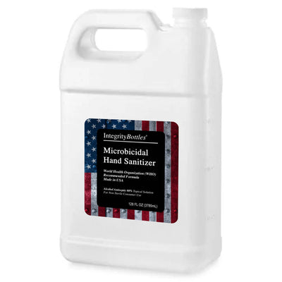 1 Gallon Bulk 80% Alcohol Hand Sanitizer, Sourced from Bourbon Distillery, WHO Recommended Topical Solution, Made in USA by Integrity Bottles