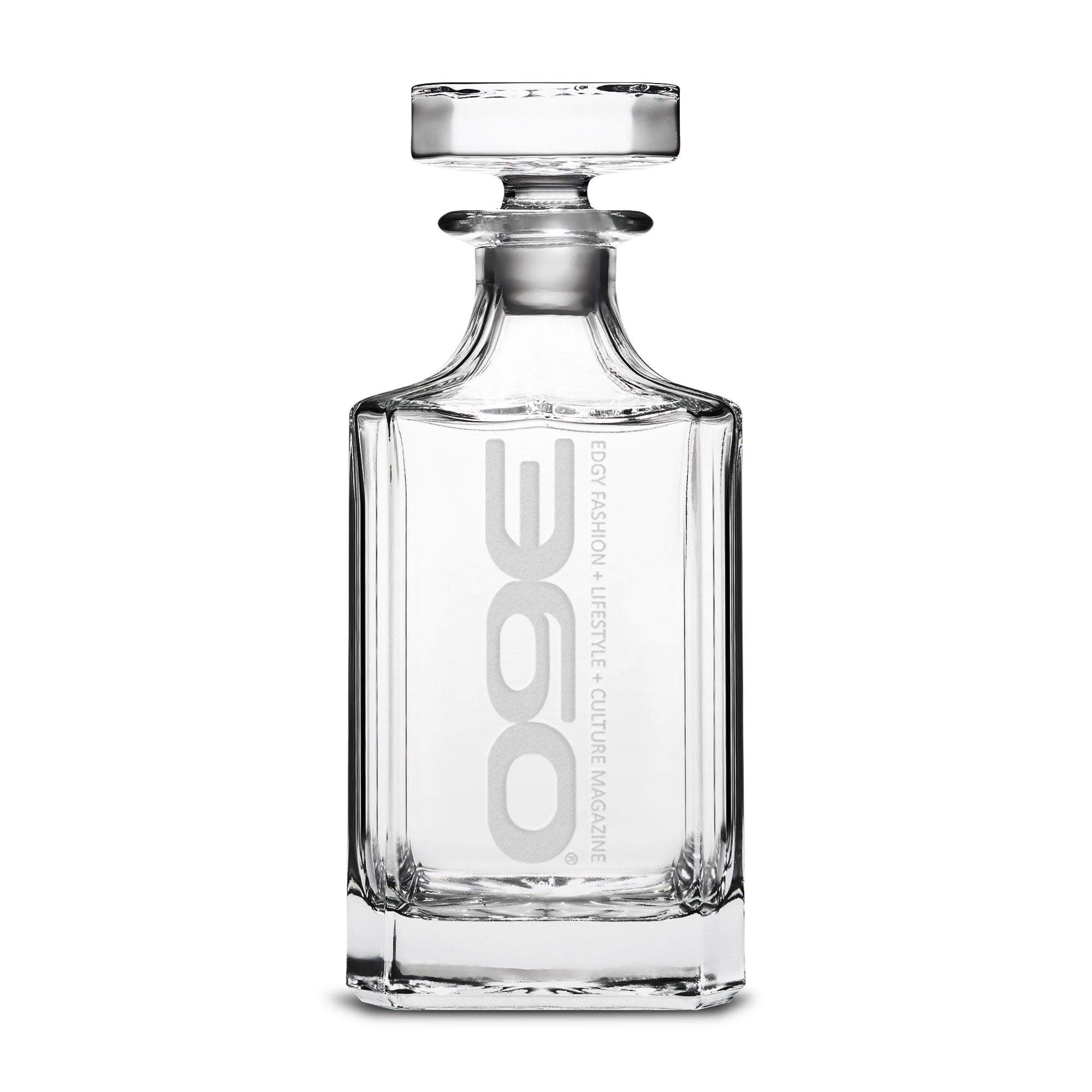 360 Magazine Refillable Diamond Decanter, 750mL Integrity Bottles