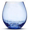 Crackle Blue Stemless Wine Glass by Integrity Bottles