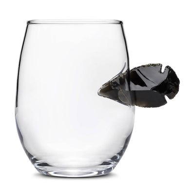 Custom Etched Obsidian Arrowhead Stemless Wine Glass Integrity Bottles