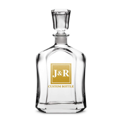 Custom Etched Refillable Capital Decanter, 750mL Integrity Bottles