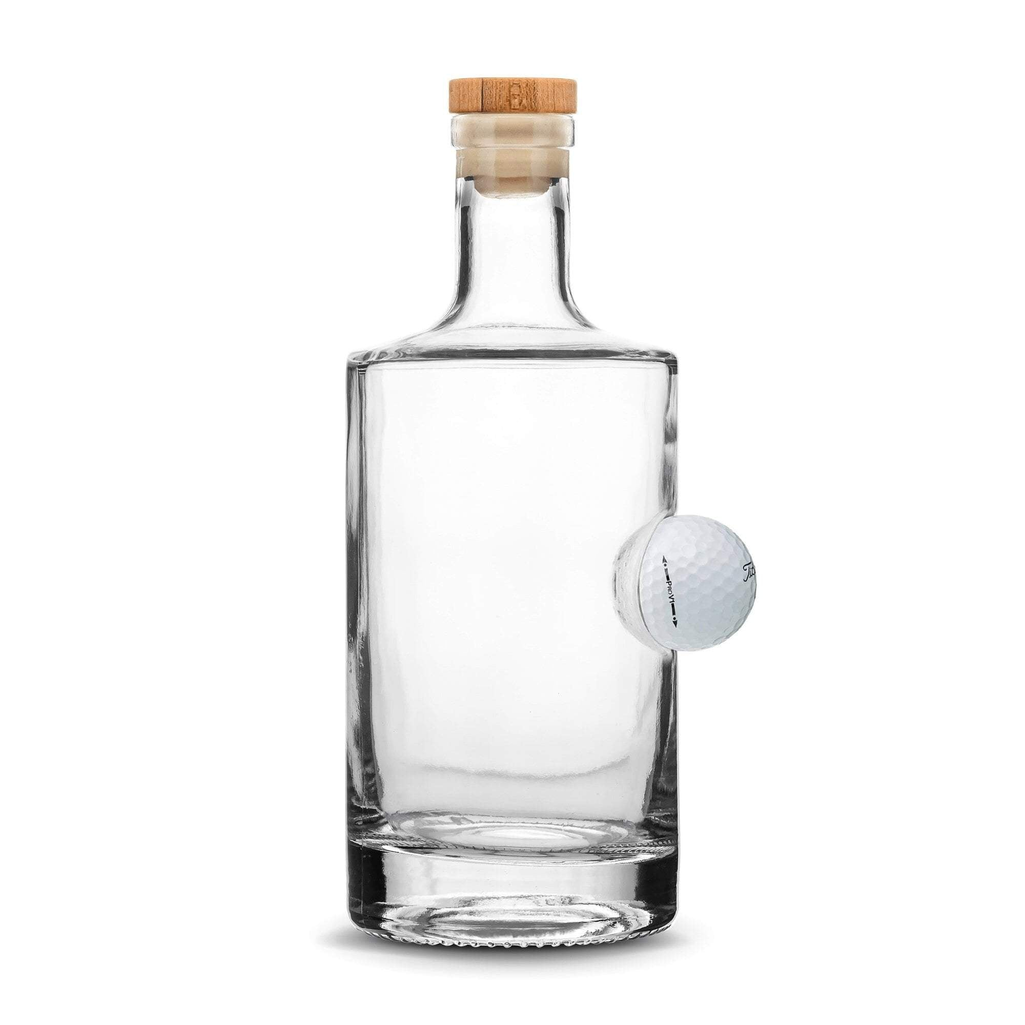 Custom Etched Refillable Golf Ball Jersey Bottle, 750mL Integrity Bottles