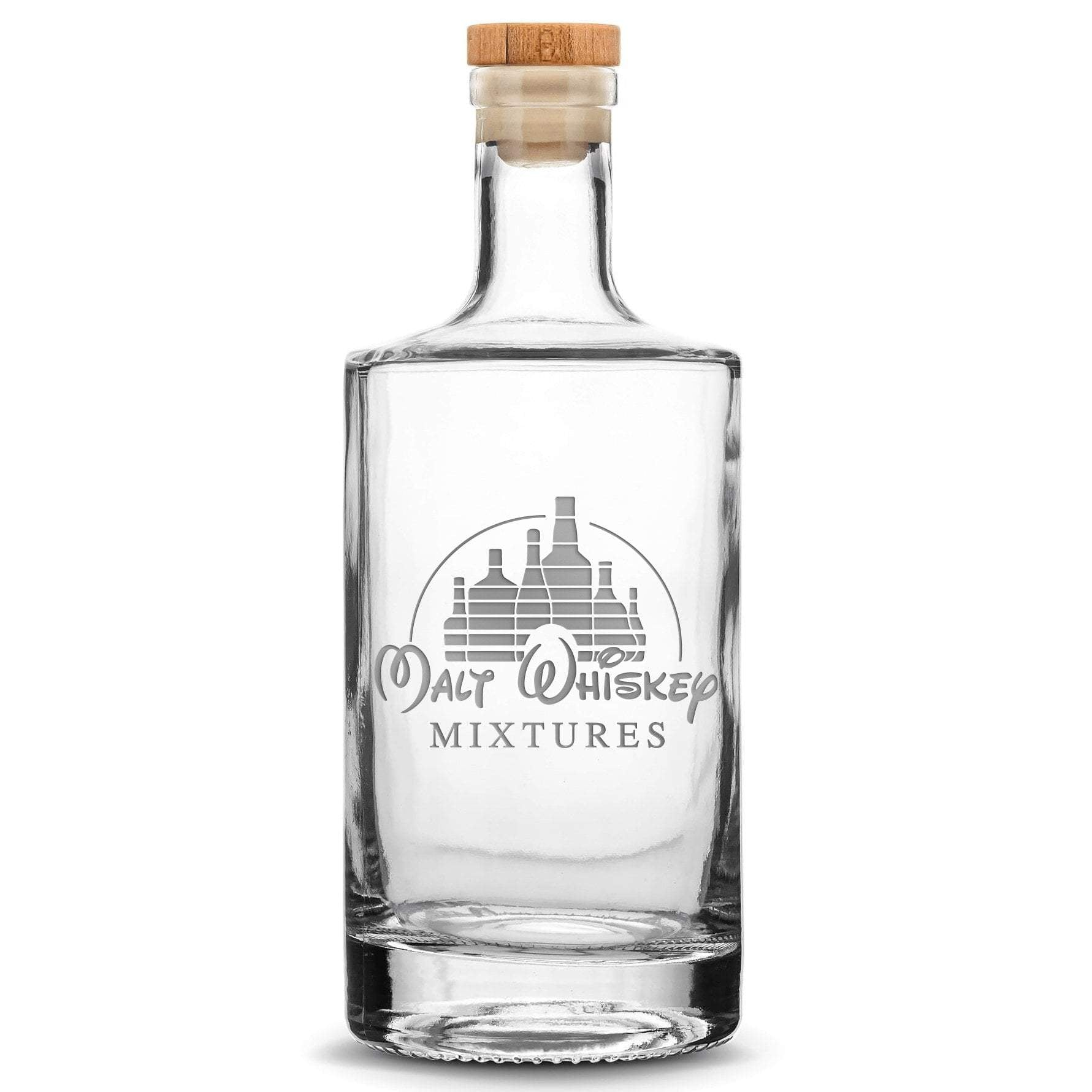 Deep Etch (no color) Premium Refillable Jersey Bottle, Malt Whiskey Mixtures, 750mL by Integrity Bottles