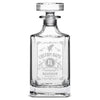 Deep Etched (no color) Freedom Bourbon Refillable Diamond Decanter, 750mL by Integrity Bottles