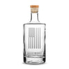 Deep Etched (no color) Premium Jersey Whiskey Decanter with Cork Stopper, American Flag, 750mL by Integrity Bottles