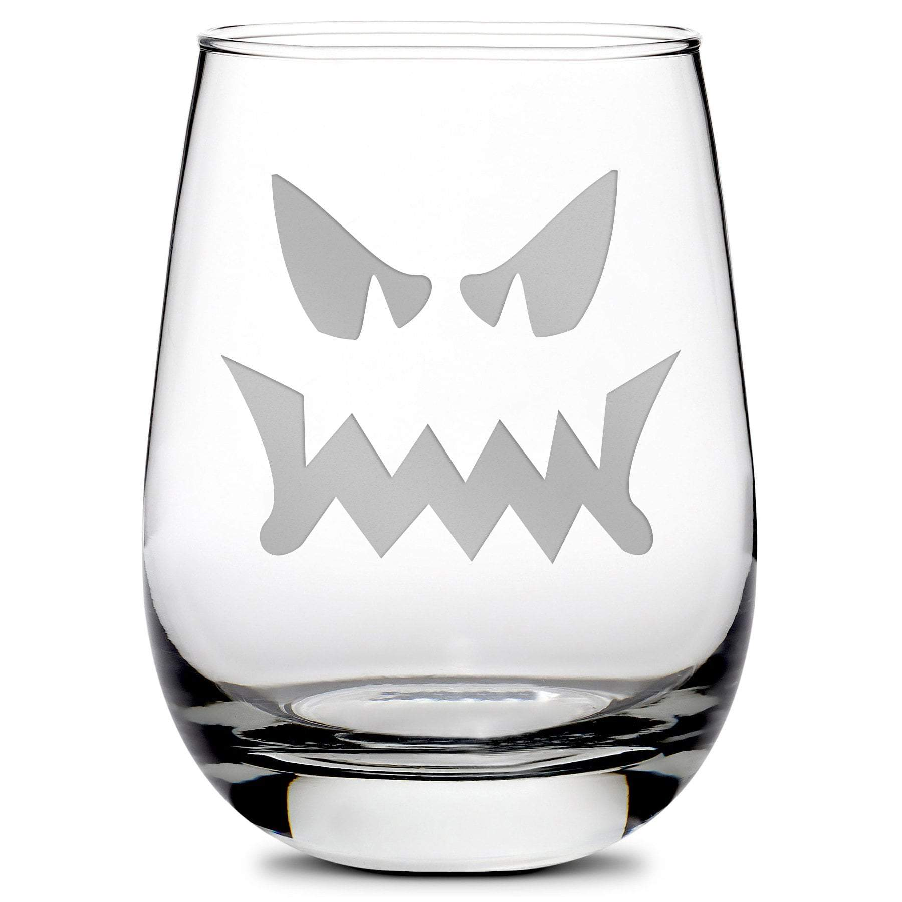 Halloween, Jack-O Whiskey, Stemless Wine Glass by Leitlein Design by Integrity Bottles
