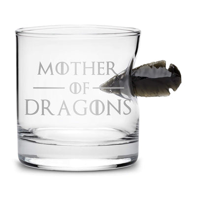 Limited Edition Game of Thrones Whiskey Dragon Glass Obsidian Arrowhead, Mother of Dragons Integrity Bottles