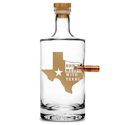 Premium .50 Caliber Bullet Jersey Bottle - Don't Mess With Texas - 750mL Integrity Bottles