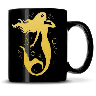 Premium Coffee Mug, Mermaid 7 Design, 12oz (Black) Integrity Bottles