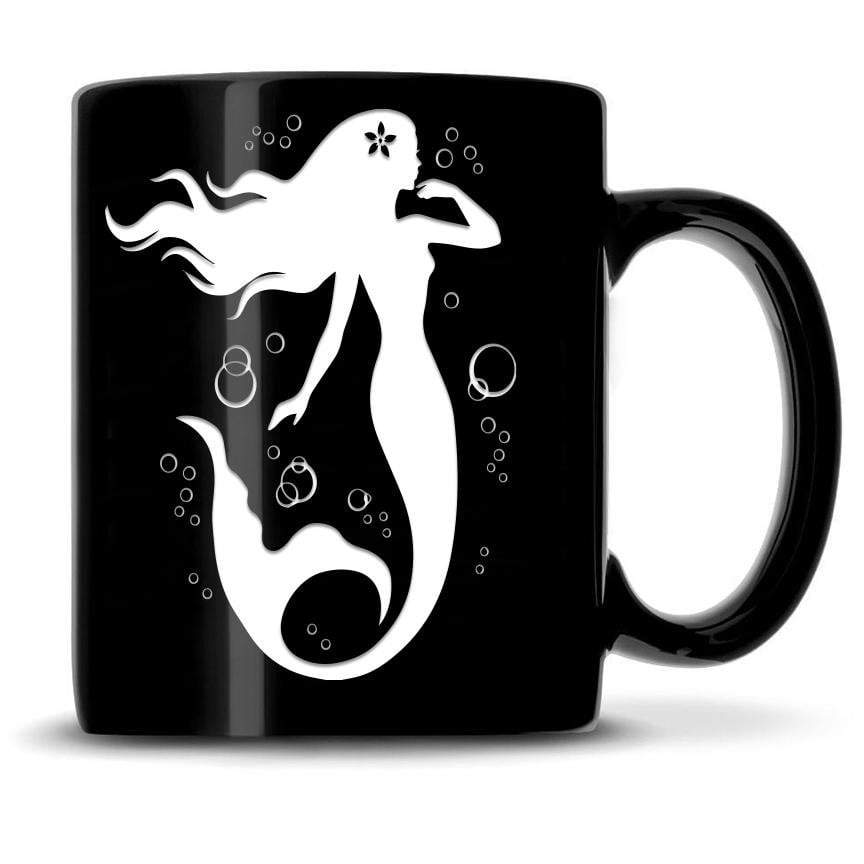Premium Coffee Mug, Mermaid 7 Design, 15oz (Black) Integrity Bottles