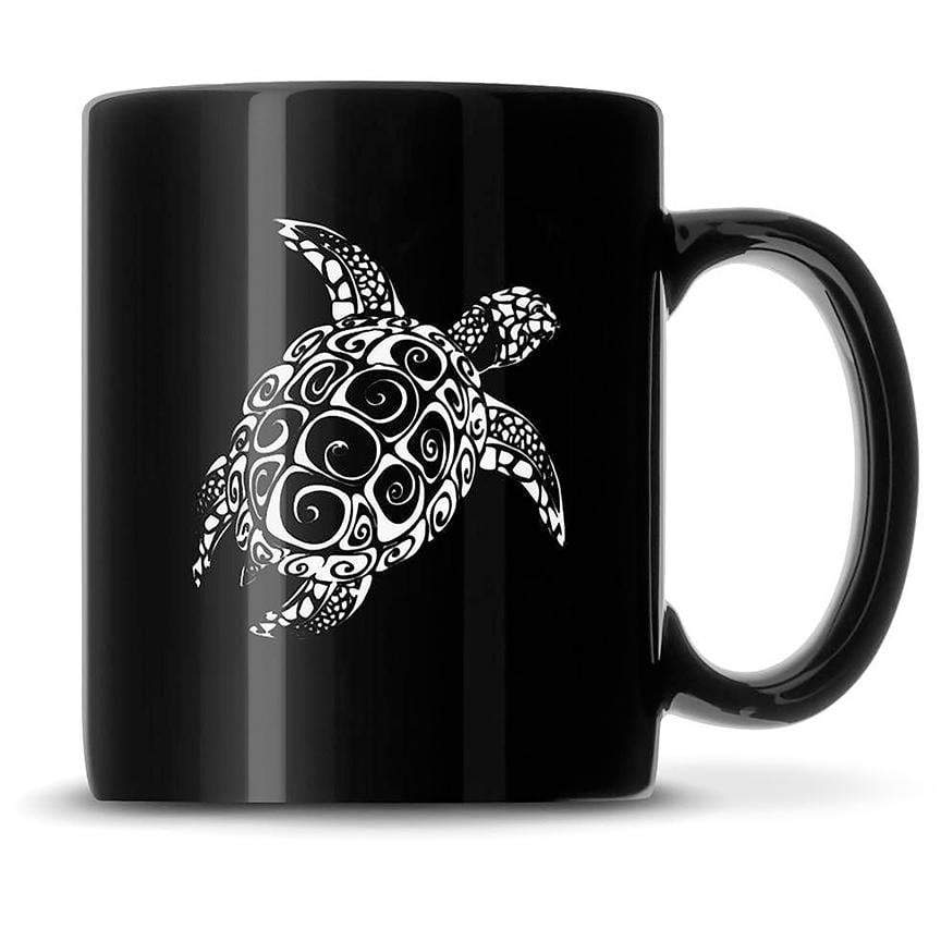 Premium Coffee Mug, Sea Turtle Design, 12oz (Black) Integrity Bottles