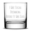 Premium Coronavirus Whiskey Glass, Etched Social Distancing Drinking Glasses,  Made in USA, 11oz by Integrity Bottles