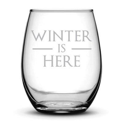 Premium Game of Thrones Wine Glass, Winter is Here Integrity Bottles